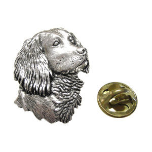 Spaniels Dog Head Lapel Pin